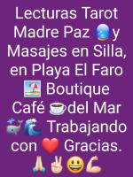 Tarot Madre Paz+Oráculo y Masaje silla enPlaya El Faro La Serena